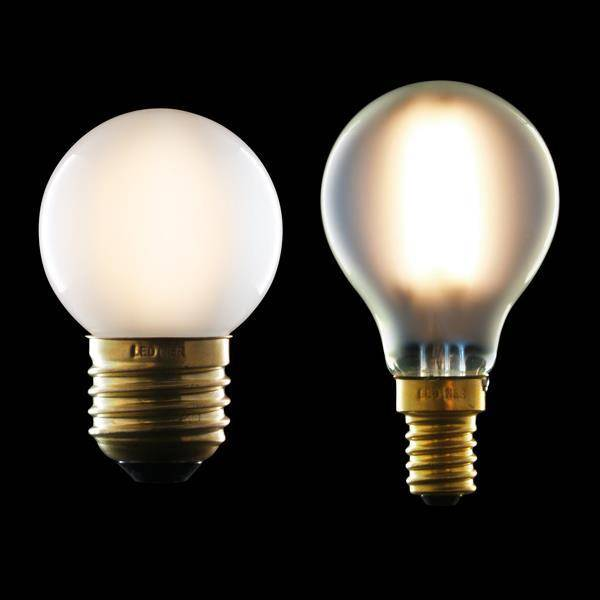 Frosted LED filament light bulb small spherical G45 (Ref ...
